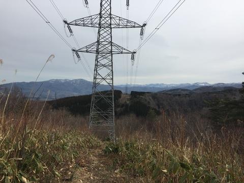 大黒部幹線63番手前の絶景。晴れた日は剣岳まで