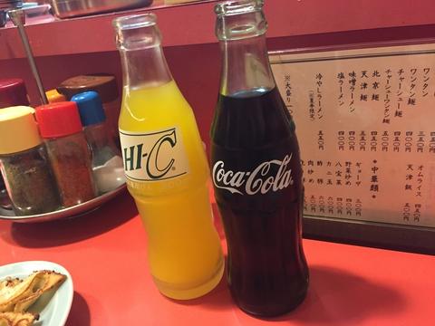 ビンのHI-Cとコーラ!