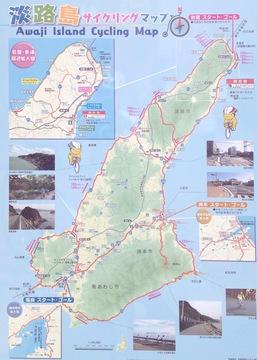 淡路島サイクリングマップ(クリックで拡大)