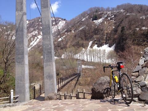 別当登山口の日本一の吊り橋