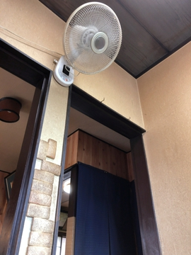 壁掛け扇風機がしぶい