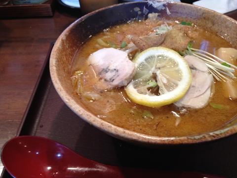 大河と秀のコラボ鶏がさね味噌ラーメン