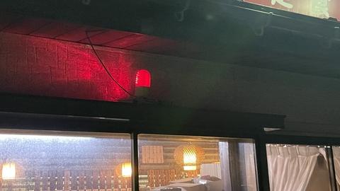 なぜか赤色灯