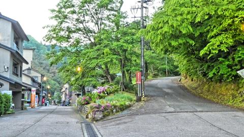 県道209号線から湯涌温泉総湯に向かう道沿いに案内があるので右へ