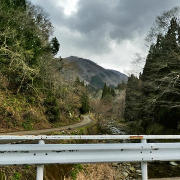 内川源流方向。見える菊水山(仮称)尾根から東谷西谷に別れる
