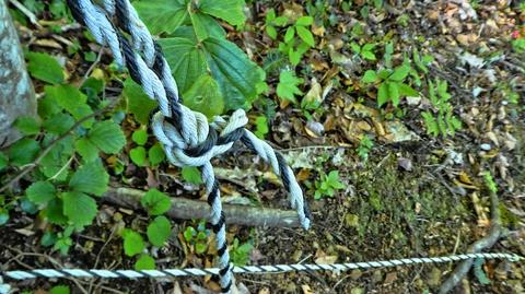 500mまで一気に下降。ロープが連続