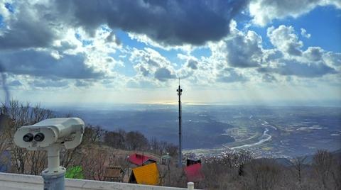 後高山展望台からは手取川河口まで一望