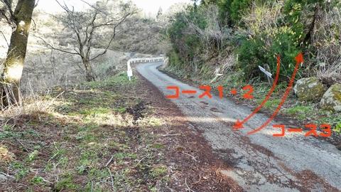 車道にでる。コース3はここスタートで奥獅子吼まで片道6km+509m