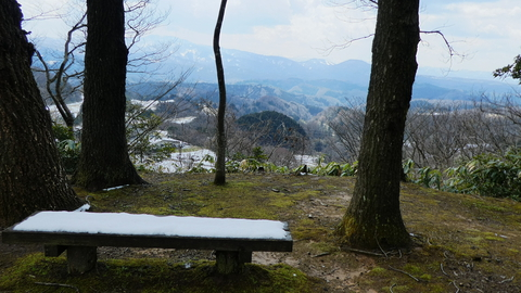 医王山側(写真は残雪期)