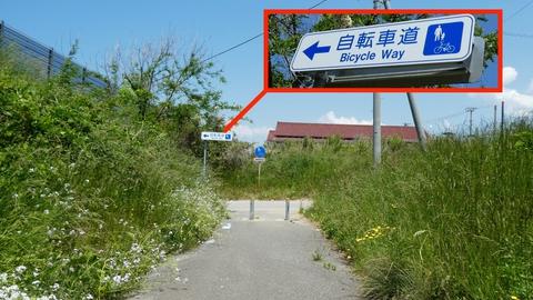 基本はこの自転車道案内を追いかける