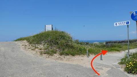 のと里山海道の東と西を交互に能登海浜自転車道が整備されている