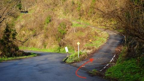 ここを右に登れば倉ヶ嶽方向へ