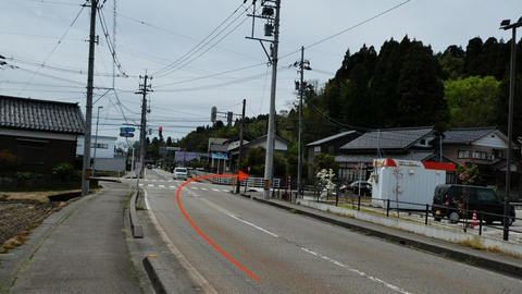 桜町右折で宮島峡方向へ