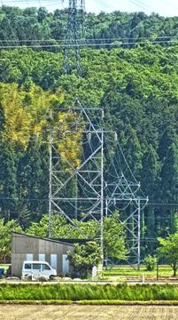 鶴来第1線こちら側方向。山の中に伸びていっている。13番と12番もレガシー感
