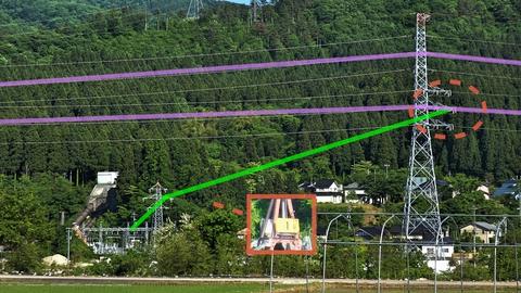 手取線42と接続されているのは有名な福岡第一発電所