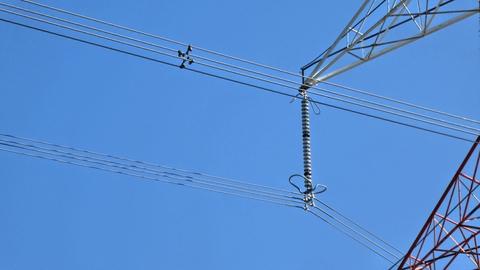 500kV加賀幹線のガイシを先程の加賀東金図線と比べてほしい。20玉以上ある。線も4本1組の4導体