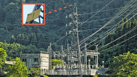 吉野谷発電所に到着。たどってきた手取線1番が待っている