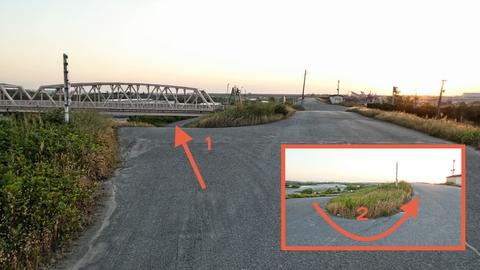 遊園地横の手取川橋。ここも潜ってからぐるっと登ってくる