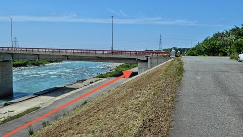 河口までのロングコースの場合は天狗橋の下をくぐれる