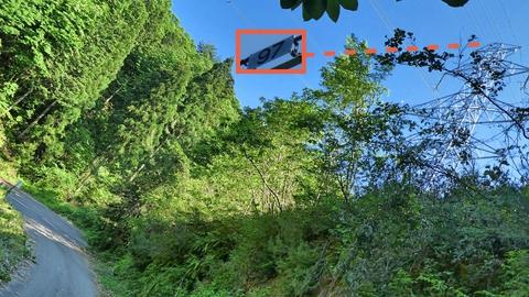 ぐるりと回って右を見るとさっき見えていた大黒部幹線97番の裏側に出たのがわかる