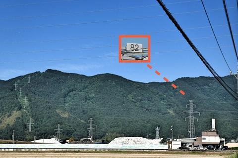 大黒部幹線82番発見。若番方向に山を登っていっている