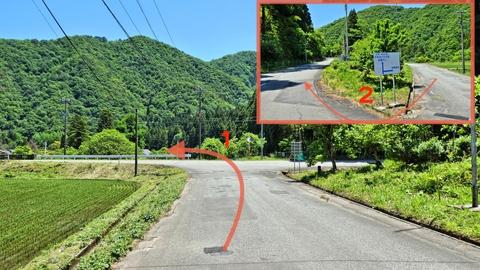 一旦左に曲がり上の県道161号へ乗り赤瀬ダム方向へ