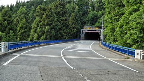 六呂瀬2号橋と六呂瀬トンネル(75m昭和54年12月)