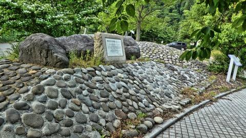 途中にある六呂瀬古墳群。4-5世紀のもの