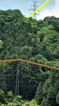加賀東金津線(黄)132・133の下を通過(黄)。右は我谷線(茶)2番