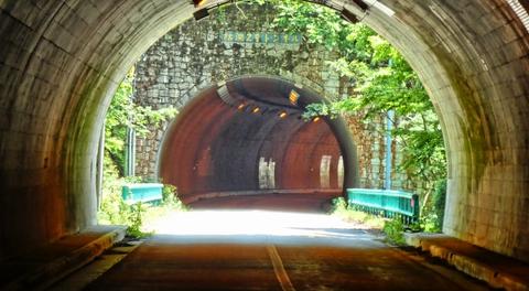 杉谷橋(平成9)をはさみ枯淵2号トンネル199m(平成9)