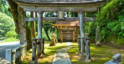 加賀東谷 杉水町の吉備神社