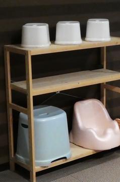 小さいお子様用の椅子が横に置いてあり自由に使える