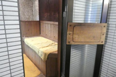 サウナの入り口は浴室から