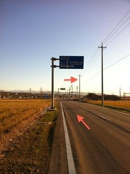 湘南公園東交差点を右。競馬場内へ