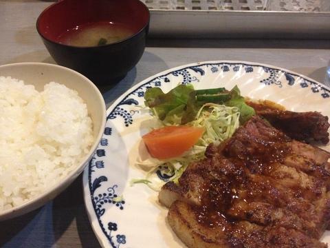 ポークステーキ定食780円