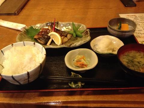 塩さば定食980円+ご飯大盛り100円