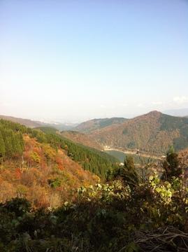 林道順尾山線から刀利ダム方向