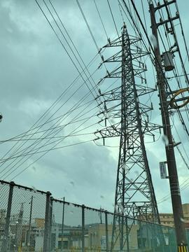 浅野変電所に接続される御所浅野線37番浅野線9番(最終)