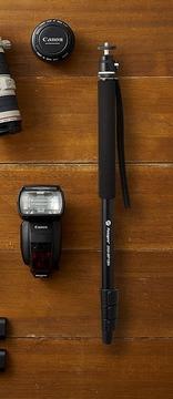 iSteadyXと一脚で自撮り棒