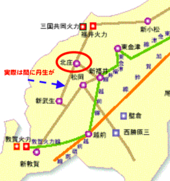 福井県送電線接続図(154kV以上)
