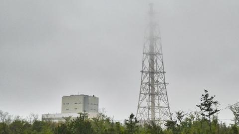 福井火力発電所と巨大煙突