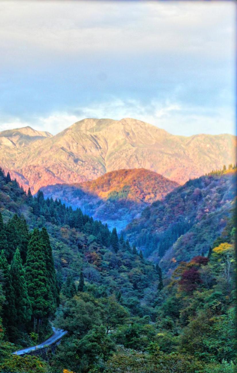 別山と刈込池を擁する願教山を一望