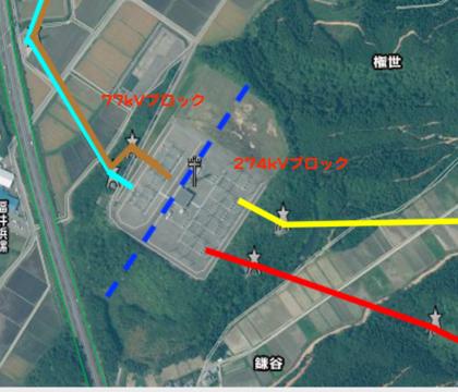 北陸電力 東金津変電所 接続図