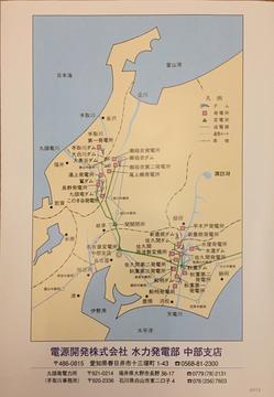 電源開発の関係施設地図(クリックで拡大)