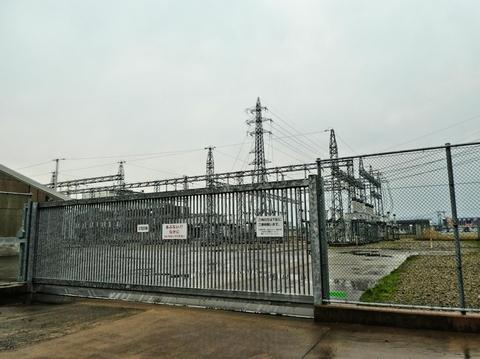 小松変電所 安宅線1番鉄塔
