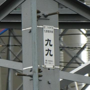 九頭竜線最終鉄塔銘板1985年11月