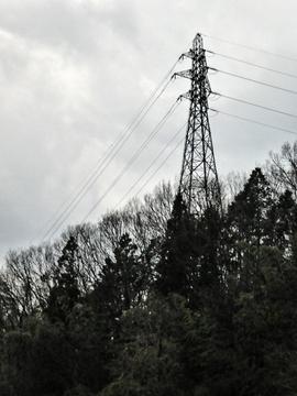 手前の能美川北線2番鉄塔
