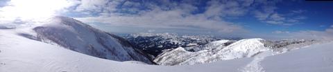 頂上付近のパノラマ