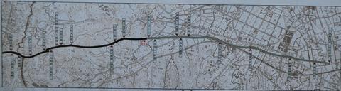小原越起点より現在地までの旧道図(クリックで拡大)