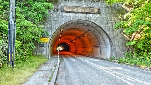 新福浦隊道をぬけたら巌門はもうすぐ